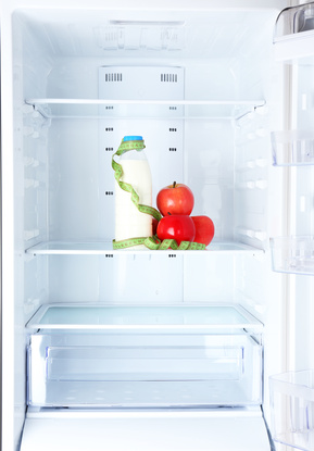 leerer Kühlschrank